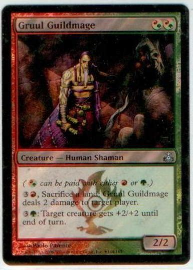 5 out of 5 stars (19) $ 10.00 free shipping bestseller favorite add to more colors. MTG Magic FOIL DCI _ Guildpact Promo _ GRUUL GUILDMAGE   eBay