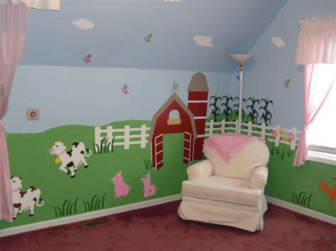 Kinderzimmer Wandgestaltung Bauernhof by Nursery Wall Mural Farm Animal Wall Mural