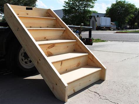 premade porch steps pre made wood deck steps home design mannahatta us