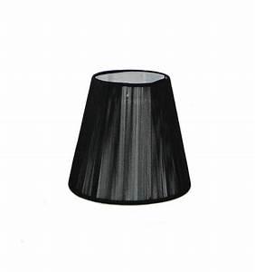 Abat Jour Design : abat jour design noir pour lustre ou applique nyala ~ Melissatoandfro.com Idées de Décoration