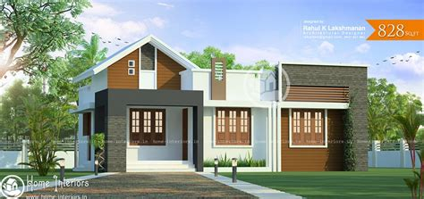 828 Sq Ft Single Floor Contemporary Home Designs