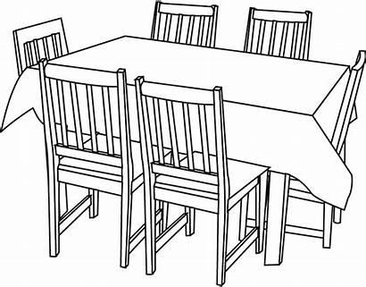 Chaises Dessiner Une Tables Coloriage Imprimer Meubles