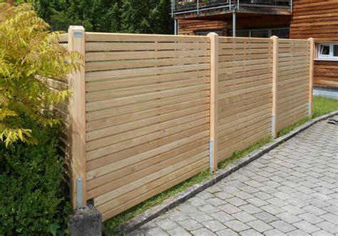 Garten Sichtschutz Holz Lamellen by Sichtschutzzaun Holz Lamellen Bvrao