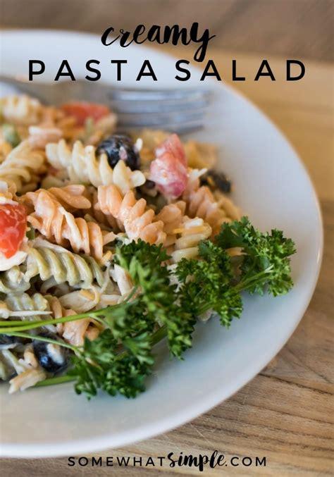 basic pasta salad recipe creamy pasta salad recipe a family favorite side dish