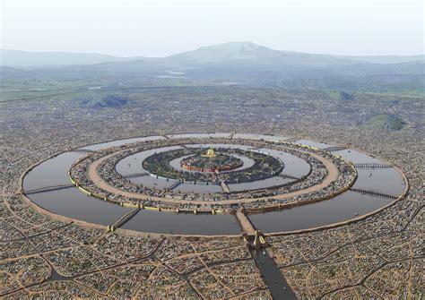 Reconstruction Of Atlantis City For The Book Platos