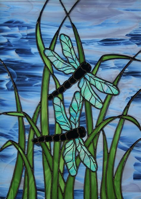 dragonfly stained glass l stained glass window panels are unique pieces of art that