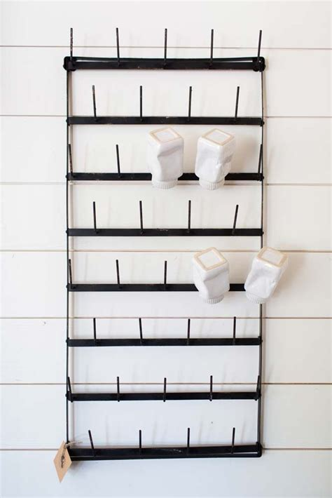 wall cup rack quot cups for days quot rack jars magnolia market and jars