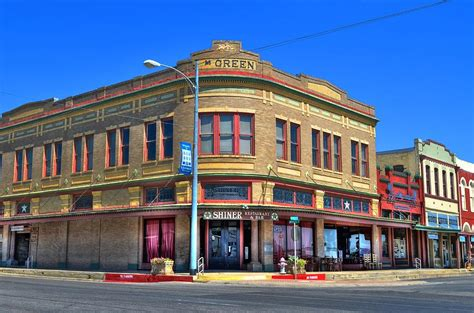 downtown shiner texas photograph by david morefield