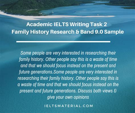 Academic Ielts Writing Task 2 Topic Family History Research & Band 90 Sample