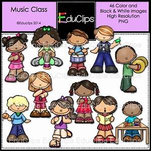 Music Class Clip Art Bundle (Color and B&W) | Welcome to ...