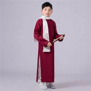 5 colors Chinese Boy Ancient Costume Children Traditional Costume 120cm 160cm Kids Raope With ...