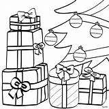 Christmas Coloring Gift Box Present Pages Tree Under Presents Boxes Getcoloringpages Templates sketch template