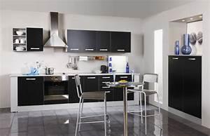 Meuble Haut Cuisine But : meuble de cuisine haut cuisine 1 porte noir 40cm u ~ Dailycaller-alerts.com Idées de Décoration