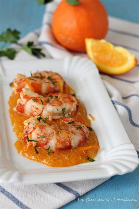 ricette cucina italiana antipasti gamberoni all arancia pesce ricette con gamberetti