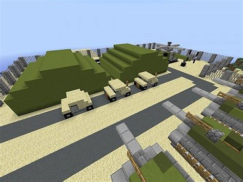 A Small Military Base Minecraft Project