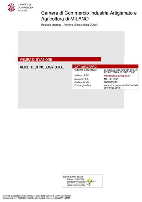 Firma Digitale Di Commercio Roma by Visura Camerale 27 11 2014 By Technology Issuu