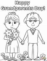 Grandparents Coloring Pages Happy Drawing Printable Printables Activities Grandparent Preschool Cards Outline Crafts Supercoloring Sheets Grand Drawings Birthday Craft Da sketch template