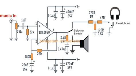 watt amplifier circuit  tda homemade circuit