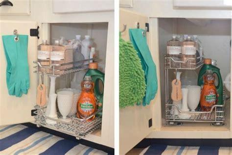 kitchen sink organization clever solutions for kitchen sink storage plumbing 2802