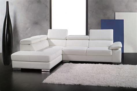 canapé d angle cuir italien canapé d 39 angle en cuir italien 5 places helios blanc