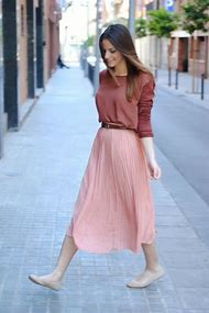 Skirt Outfits with Flats