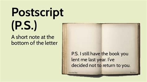 What Does Ps Mean When You Write A Letter