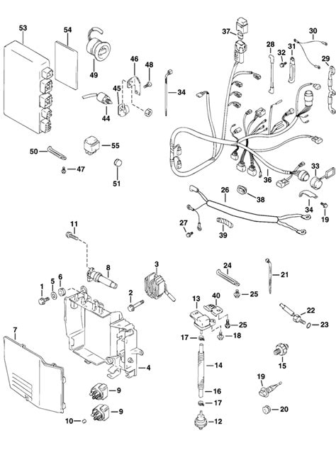 evinrude electrical system parts   hp eplsir