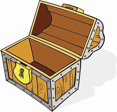 Treasure Chest Clipart Empty Open Cartoon Clip