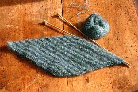tricot en diagonale une augmentation au d 233 but de chaque