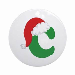christmas letter c alphabet ornament round by With letter c christmas ornaments
