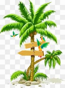 Palm tree Trees Hand painted Tree PNG Image for Free