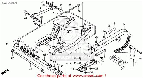1993 Honda Shadow Wiring Diagram by Honda Vt600cd Shadow Vlx Deluxe 1993 Usa Swingarm