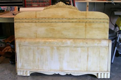 How To Make A Footboard by How To Make A Headboard Bench From A Vintage Bed
