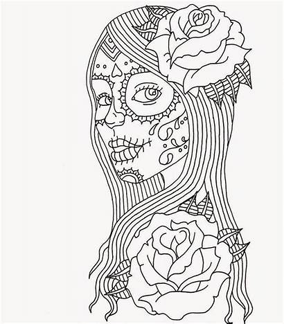 Coloring Adult Skull Abstract