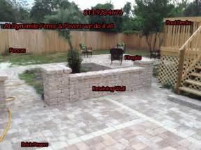 Brick Paver Patio with Retaining Wall