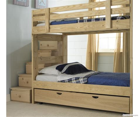 stackable bunk bed  storage stairs  trundle bed
