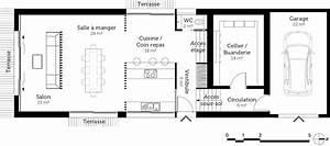 plan maison avec demi sous sol ooreka With plan maison demi etage 2 plan maison avec demi sous sol ooreka