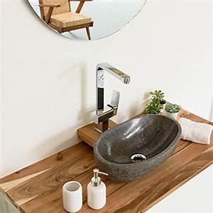 Handwaschbecken Gäste Wc : wohnfreuden naturstein waschbecken rund oval 40 cm poliert ~ Michelbontemps.com Haus und Dekorationen
