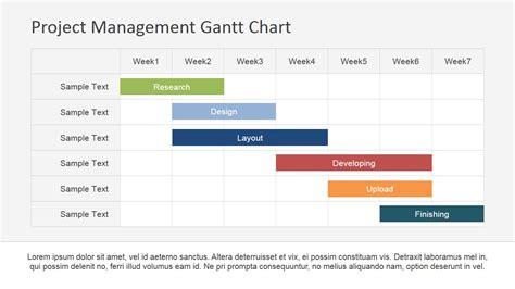 Gantt Chart Template Flat Horizontal Bar Gantt Chart Template Slidemodel