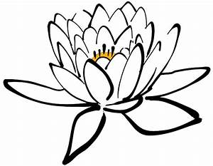 Lotus Flower Black And White - ClipArt Best