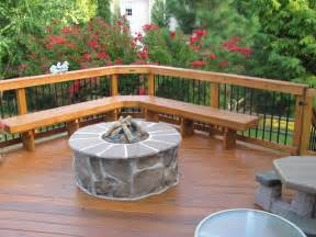 outdoor firepit archadeck of