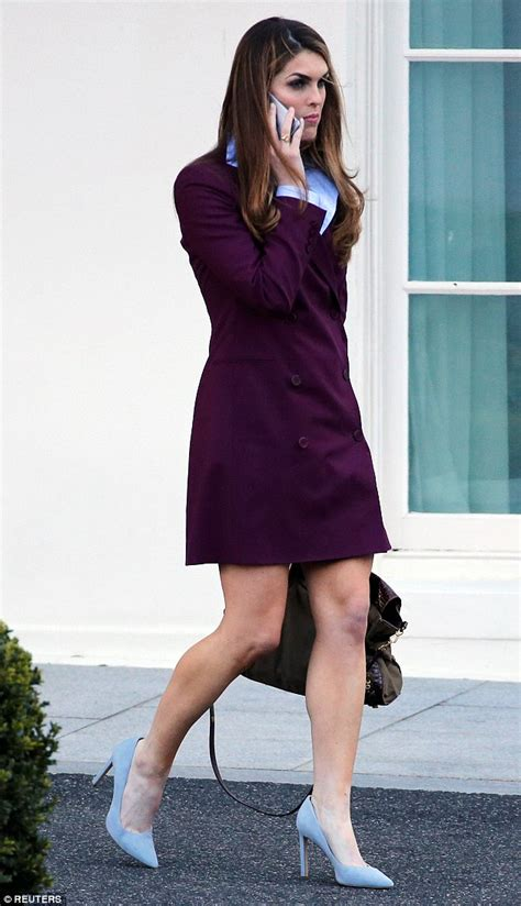 Hope Hicks is caught in the rain in Washington, D.C ...