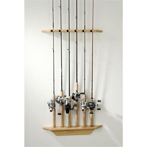 fishing rod rack organized fishing vertical wall rod rack 200560 fishing