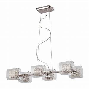 Trans globe mdn pc glassed cube light adjustable