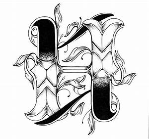 tattoo inspired typography love letters With letter typography art