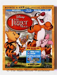 Disney The Tigger Movie Blu-ray & DVD + 10 Winnie Pooh ...