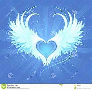 realistic angel wings coeur d 39 un ange illustration de vecteur image du