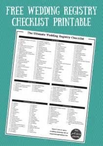 wedding registry checklist the ultimate wedding registry checklist free printable