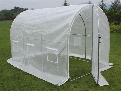 serre tunnel de jardin avec porte quot mimosa quot 220g m2 6m 178 3 x 2 x 2 m 67252 67275