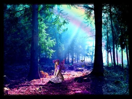 enchanted forest fantasy abstract background